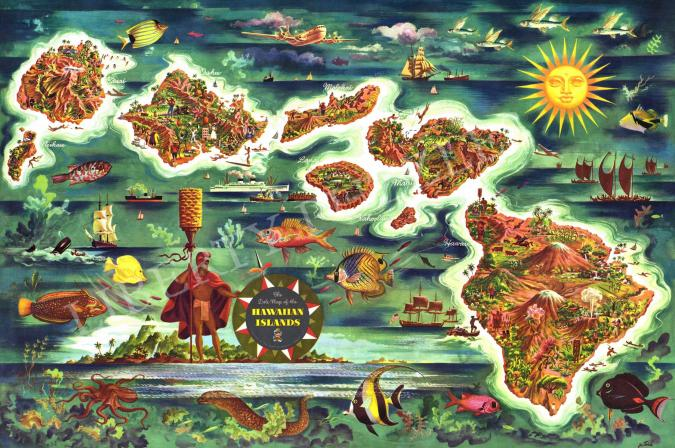 Dole Map of the Hawaiian Islands - Liberty Puzzles - 6