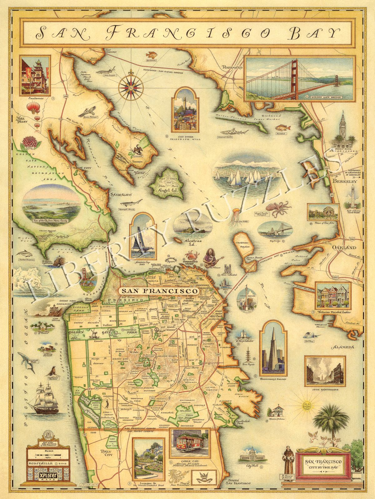 San Francisco Bay Map - Wooden Jigsaw Puzzle - Liberty ... on sierra mountains on map of usa, salt lake city on map of usa, chesapeake bay on map of usa, new madrid on map of usa, mt rushmore on map of usa, corn belt on map of usa, arkansas river on map of usa, sierra nevada on map of usa, mt st helens on map of usa, pikes peak on map of usa, south dakota on map of usa, new mexico on map of usa, new hampshire on map of usa, ferguson on map of usa, montana on map of usa, snake river on map of usa, jackson on map of usa, dodge city on map of usa, mojave desert on map of usa, black hills on map of usa,