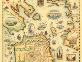 San Francisco Bay Map - Liberty Puzzles - 1