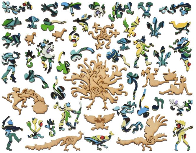 Emerald Isle Peacock - Liberty Puzzles - 14