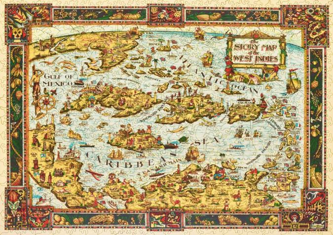 The Story Map of the West Indies - Liberty Puzzles - 15