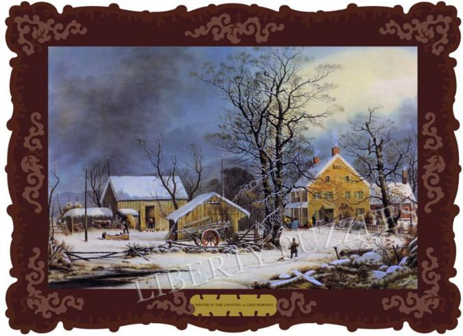 Winter in the Country, A Cold Morning - Liberty Puzzles - 6