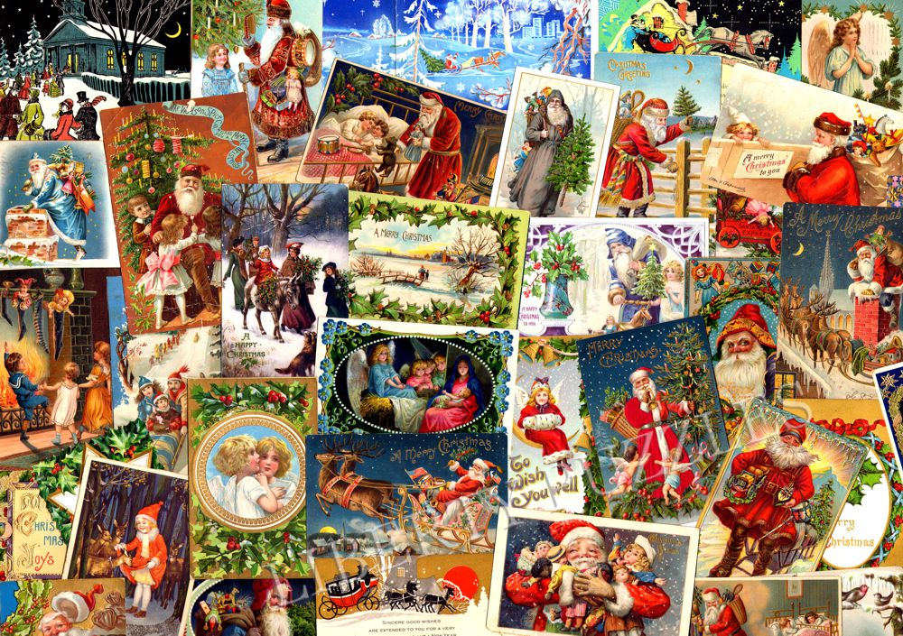 vintage christmas postcards wooden jigsaw puzzle liberty puzzles