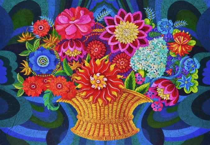 More Blooms in a Basket - Liberty Puzzles - 12