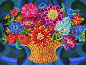 More Blooms in a Basket - Liberty Puzzles - 2