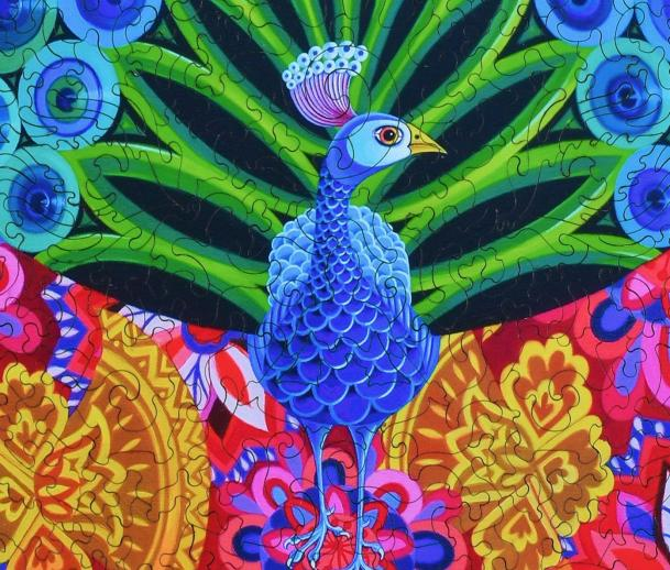 Peacock and Pattern - Liberty Puzzles - 12