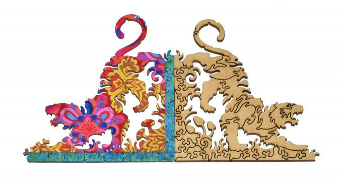 Peacock and Pattern - Liberty Puzzles - 18