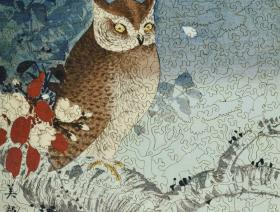 Owl and Cherry Branch - Liberty Puzzles - 2