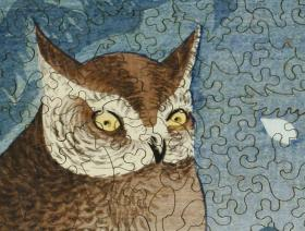 Owl and Cherry Branch - Liberty Puzzles - 3