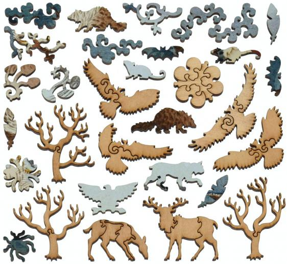 Owl and Cherry Branch - Liberty Puzzles - 12