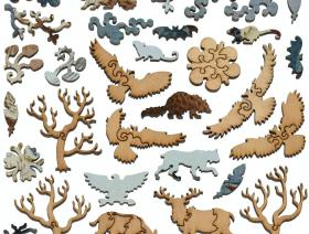 Owl and Cherry Branch - Liberty Puzzles - 5