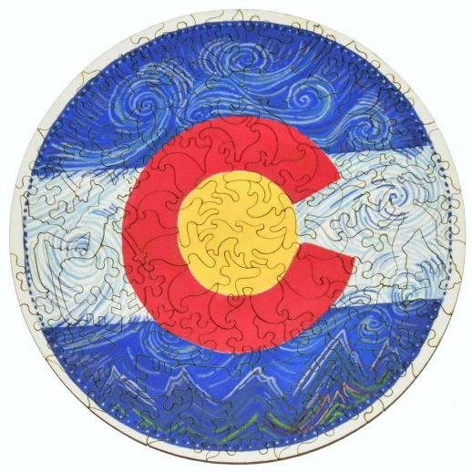 Colorado Flag Round - Liberty Puzzles - 7