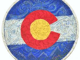 Colorado Flag Round - Liberty Puzzles - 2