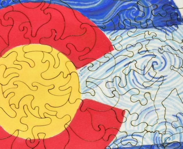 Colorado Flag Round - Liberty Puzzles - 8