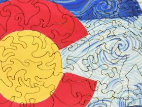 Colorado Flag Round - Liberty Puzzles - 3