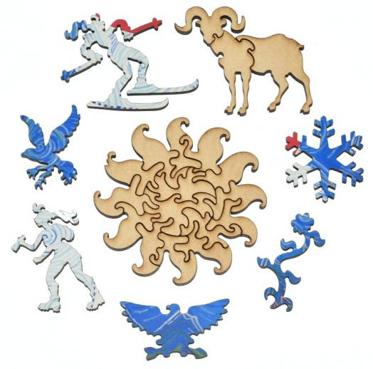 Colorado Flag Round - Liberty Puzzles - 10