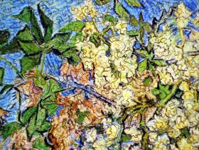 Blossoming Chestnut Branches - Liberty Puzzles - 3