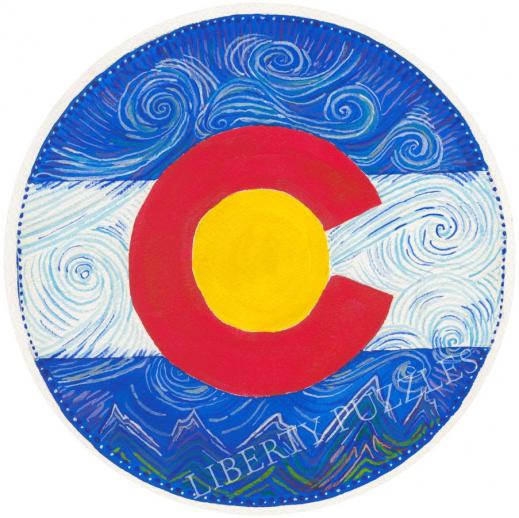 Colorado Flag Round - Liberty Puzzles - 6