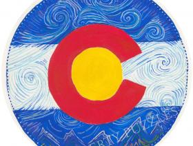 Colorado Flag Round - Liberty Puzzles - 1