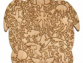 Sea Turtle small round - Liberty Puzzles - 4
