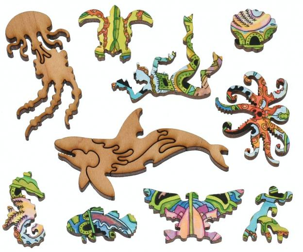 Sea Turtle small round - Liberty Puzzles - 12