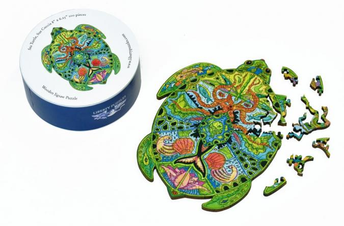 Sea Turtle small round - Liberty Puzzles - 10