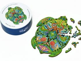 Sea Turtle small round - Liberty Puzzles - 3
