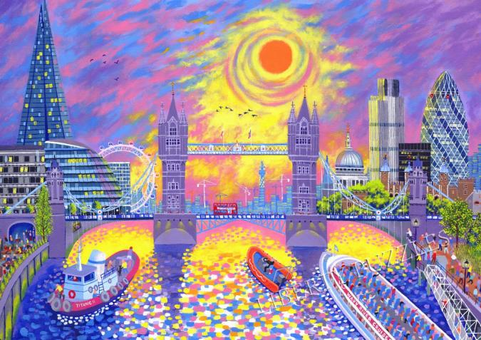 Sunset: Pool of London - Liberty Puzzles - 10