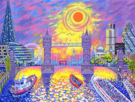 Sunset: Pool of London - Liberty Puzzles - 1