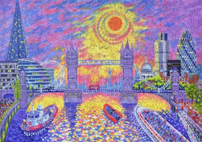 Sunset: Pool of London - Liberty Puzzles - 11