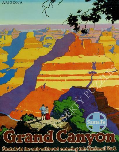 Grand Canyon Santa Fe Railroad - Liberty Puzzles - 10