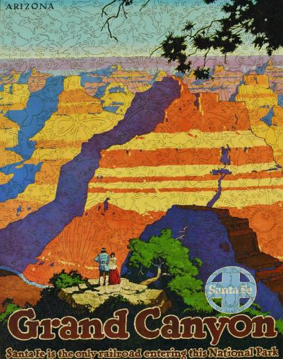 Grand Canyon Santa Fe Railroad - Liberty Puzzles - 11