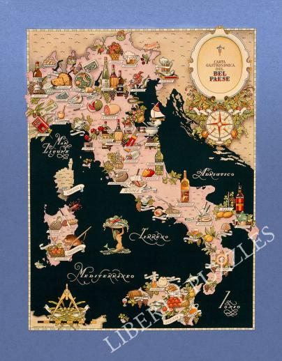 Bel Paese - Gastronomical Map of Italy - Liberty Puzzles - 9