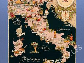 Bel Paese - Gastronomical Map of Italy - Liberty Puzzles - 1