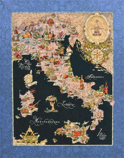 Bel Paese - Gastronomical Map of Italy - Liberty Puzzles - 10