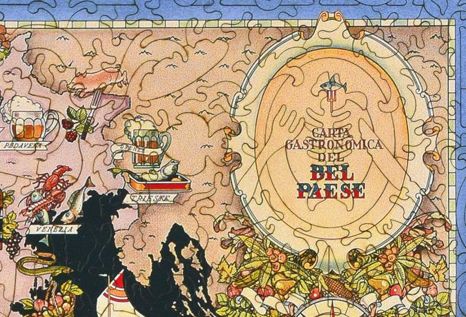 Bel Paese - Gastronomical Map of Italy - Liberty Puzzles - 11