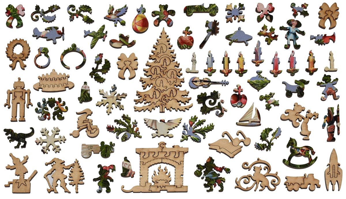 Victorian Christmas Tree Wooden Jigsaw Puzzle Liberty Puzzles Made In The Usa