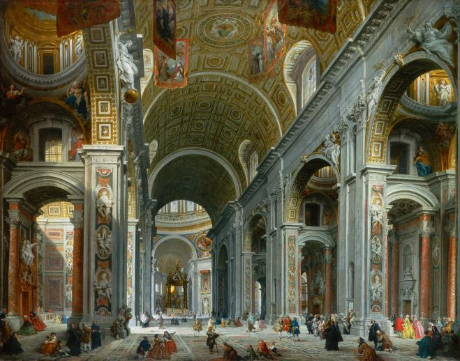 Interior of St. Peter's, Rome - Liberty Puzzles - 6