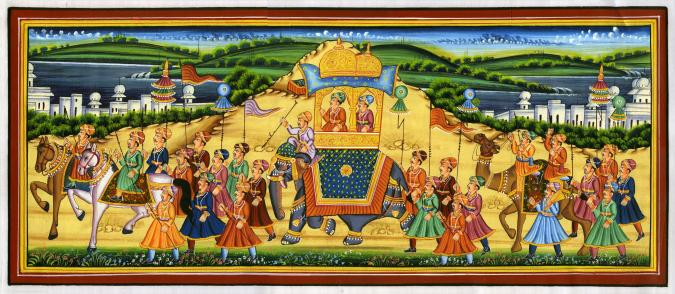 Procession of Akbar, King of the Mughals - Liberty Puzzles - 6