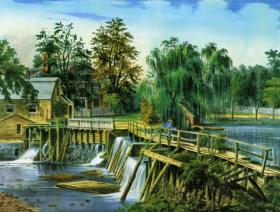 Mill Dam at Sleepy Hollow - Liberty Puzzles - 1