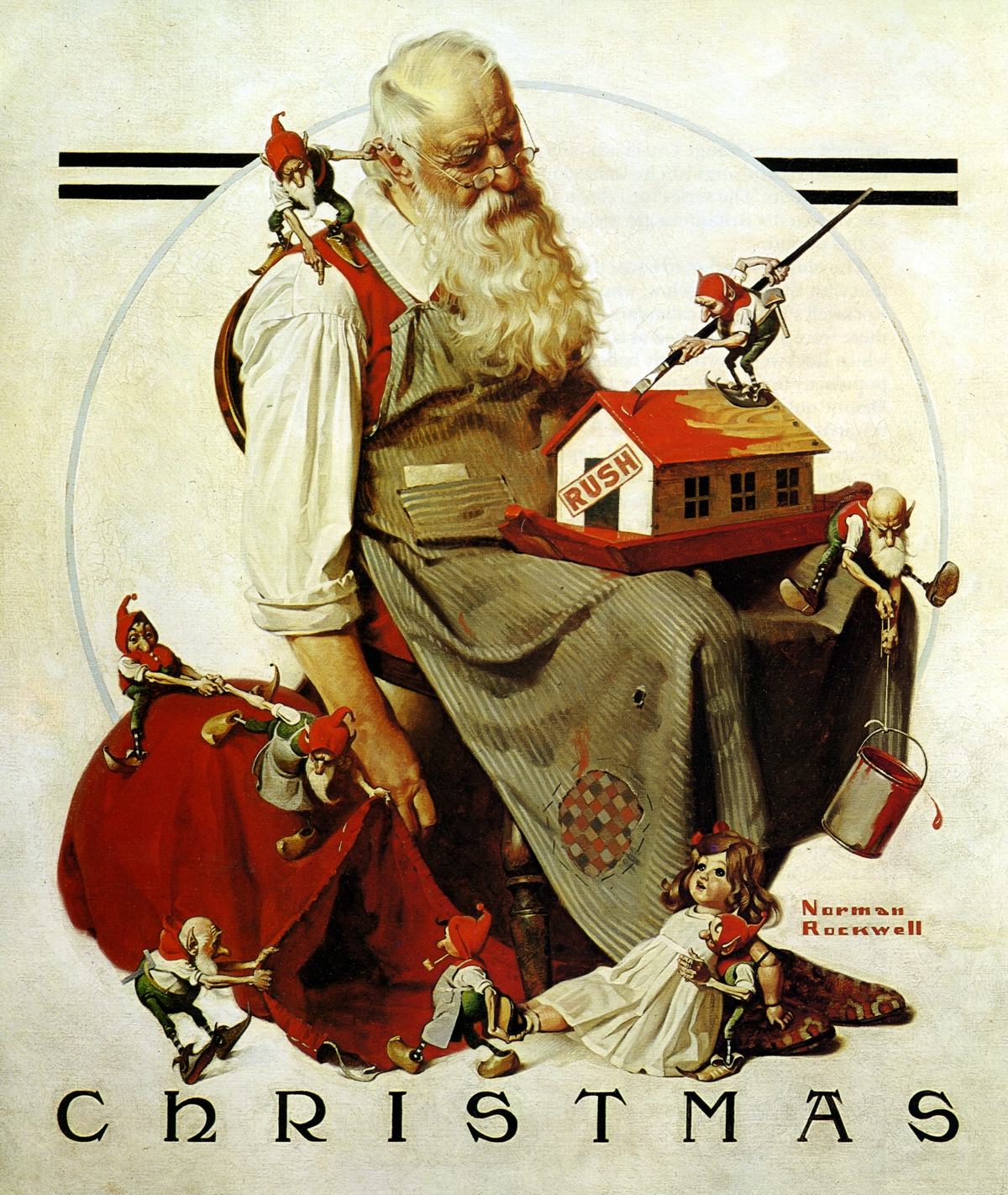 Rockwell Santa - Wooden Jigsaw Puzzle - Liberty Puzzles - Made in ...