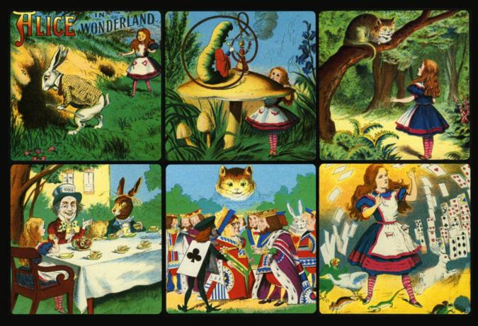 Alice in Wonderland collage - Liberty Puzzles - 6