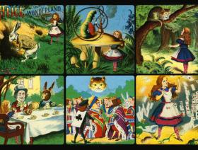 Alice in Wonderland collage - Liberty Puzzles - 1