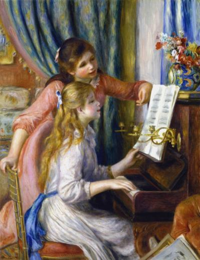 Two Young Girls at the Piano - Liberty Puzzles - 6