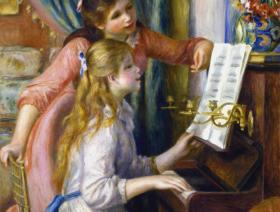 Two Young Girls at the Piano - Liberty Puzzles - 1