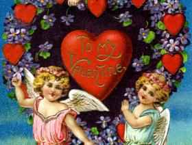 Valentine with Cherubs - Liberty Puzzles - 1