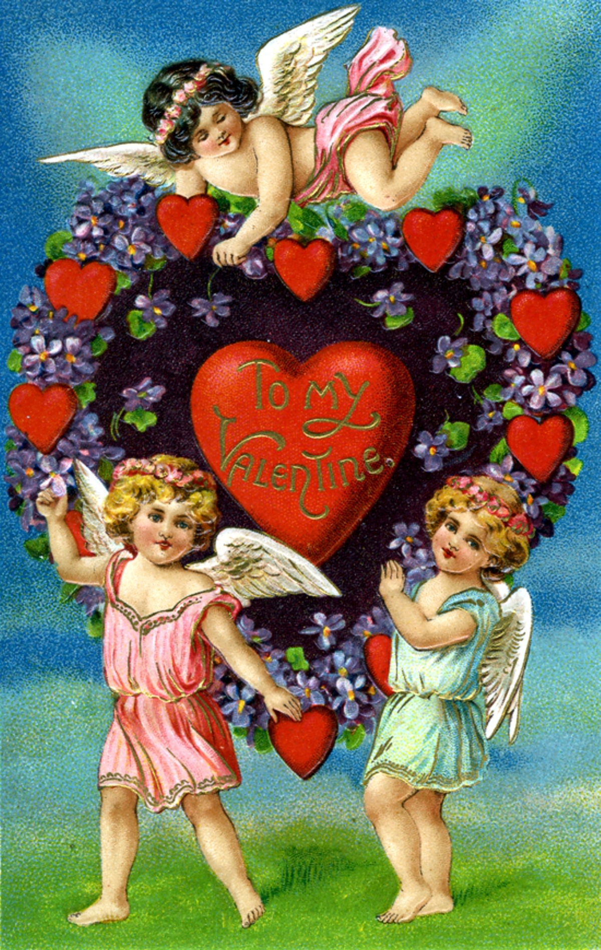 Valentine with Cherubs - Wooden Jigsaw Puzzle - Liberty Puzzles - Made in  the USA