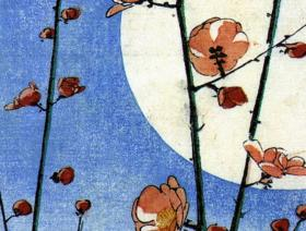 blossoming-plum-tree-with-full-moon-image-3700.jpg #1