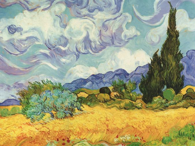 Wheat Field with Cypresses - Liberty Puzzles - 6