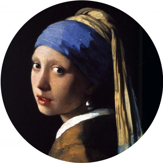 Girl with a Pearl Earring round - Liberty Puzzles - 5